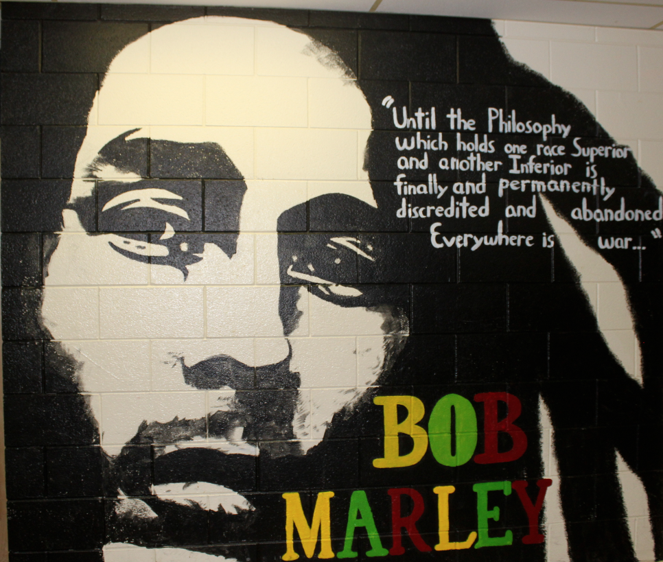 Mural madness where have they gone lakebreeze publications for Bob marley wall mural